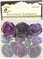 Little Birdie: English Roses Purples  - paperikukkapakkaus