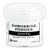 Embossing Powder: Super Fine Detail White 34ml