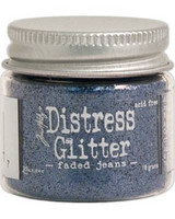 Distress Glitter: Faded Jeans