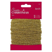 Papermania Sparkly Trim: Gold