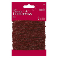 Papermania Sparkly Trim: Metallic Red