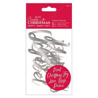 Create Christmas: Foiled Words Silver