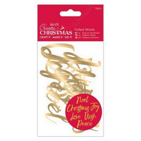 Create Christmas: Foiled Words Gold