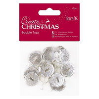 Create Christmas: Bauble Tops Silver