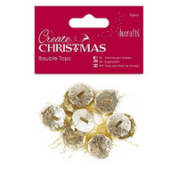 Create Christmas: Bauble Tops Gold