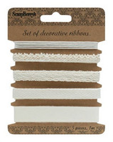 Set of Decorative Ribbons: Natural - nauhapakkaus