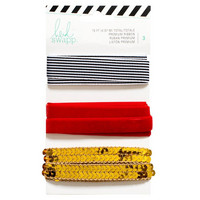 Premium Ribbon: Gold, Red & Black - nauhapakkaus