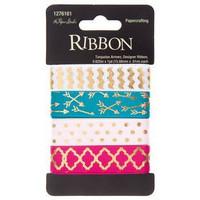 Designer Ribbon: Turquoise Arrows -nauhapakkaus