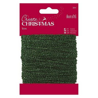 Papermania Sparkly Trim: Metallic Green