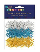 Glitter Foam Stickers: Snowflakes