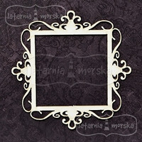 Square Ornament Frame -chipboardpakkaus