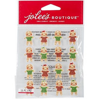 Jolee's Boutique 3D Dimensional Stickers: Gingerbread Repeats