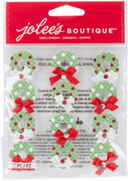 Jolee's Boutique 3D Dimensional Stickers: Christmas Wreaths Repeat
