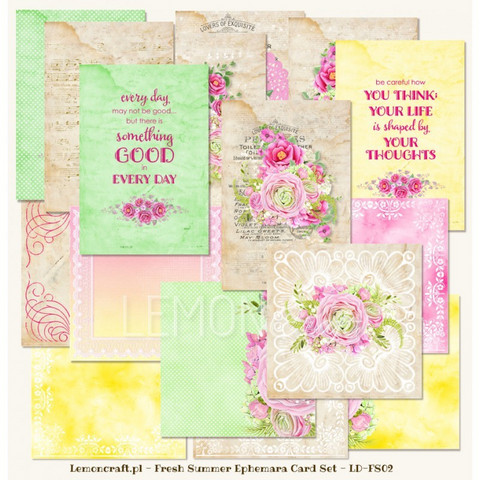 Fresh Summer Ephemera Cards