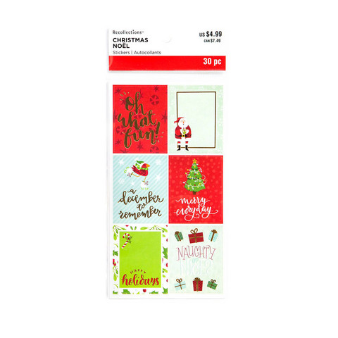 Recollections Planner Stickers:  Merry Everything Square Phrase - tarrapakkaus