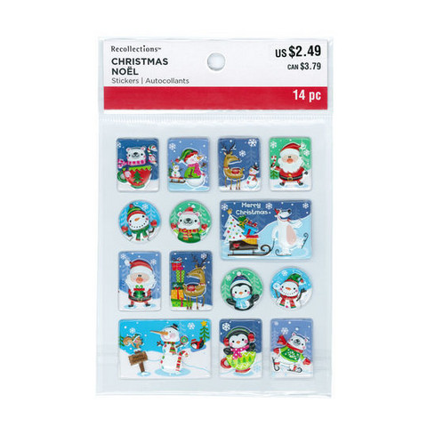 Christmas 3D Stickers: Picture Bubbles
