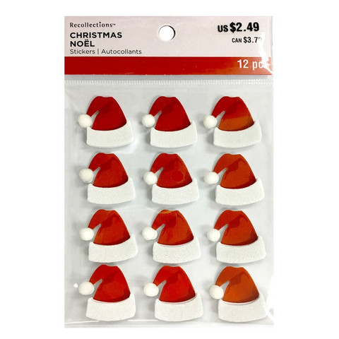 Christmas 3D Stickers: Santa Hat