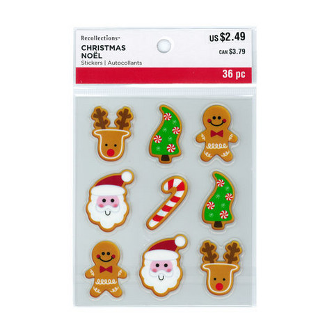 Christmas Clear Stickers: Christmas Cookies
