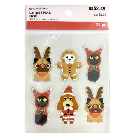 Christmas Clear Stickers: Animal Costumes