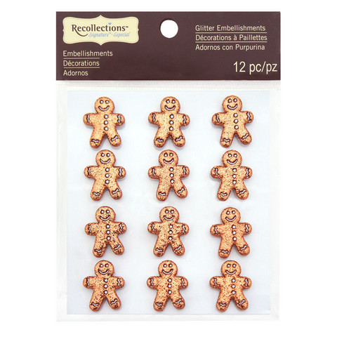 Christmas Glitter Embellishments: Gingerbread Men