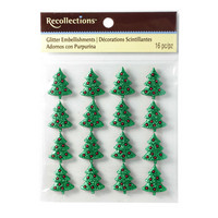 Christmas Glitter Embellishments: Christmas Tree