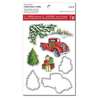 Christmas Truck Clear Stamp & Die Set