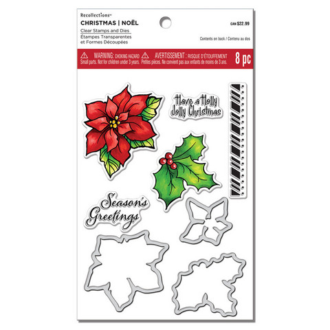 Poinsettia & Holly Clear Stamp & Die Set