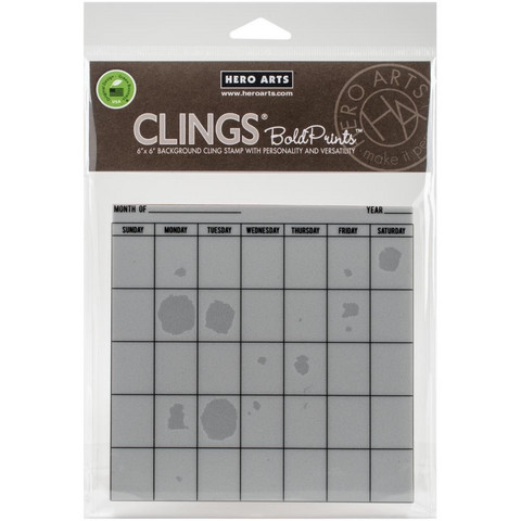 Bold Prints Cling Stamp: Calendar -leimasin.