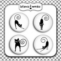 Flair Buttons: Cats  -  koristeet