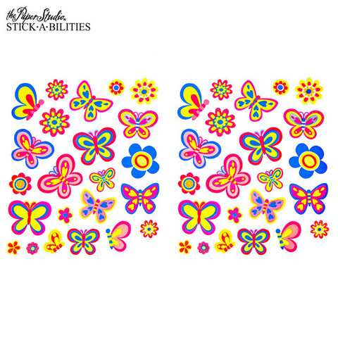 Stickabilities: Butterflies & Flowers Glitter - tarrapakkaus