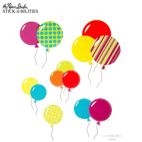 Stickabilities: Birthday Balloon Glitter - tarrapakkaus