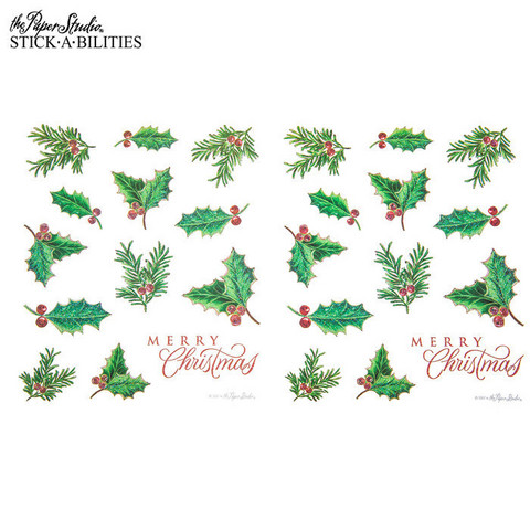 Stickabilities: Christmas Holly Glitter - tarrapakkaus