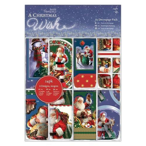 Christmas Wish: A5 Decoupage Pack