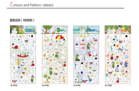 Moomin Puffy Stickers