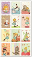 Postage Stamp Stickers: Alice in Wonderland 2