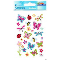 Mini Sweet Stickers: Butterflies & Bugs