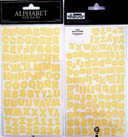 Alpha Stickers: Chevron Yellow & White