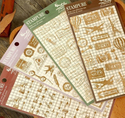 Vintage Gold Foil Stickers