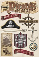 Cardstock Stickers: Pirate's Life
