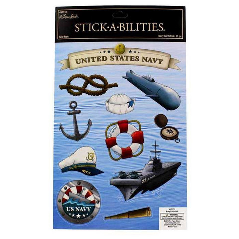Stickabilities Cardstock Stickers: Navy