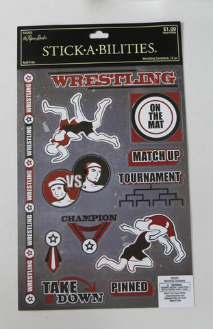 Stickabilities Cardstock Stickers: Wrestling