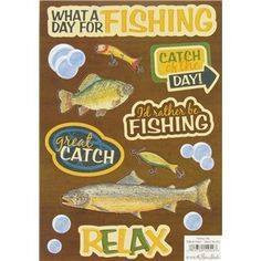 Stickabilities Cardstock Stickers:  Fishing