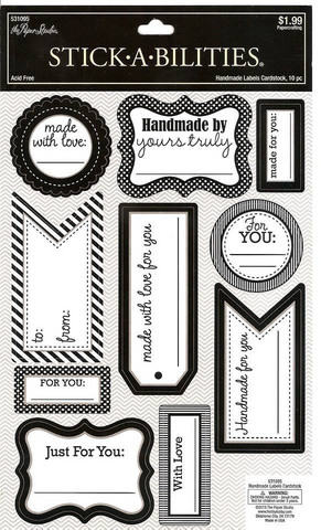 Stickabilities Cardstock Stickers: Handmade Labels