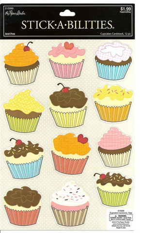 Stickabilities Cardstock Stickers: Cupcakes