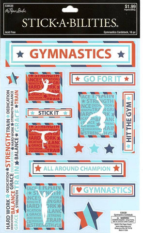 Stickabilities Cardstock Stickers: Gymnastics