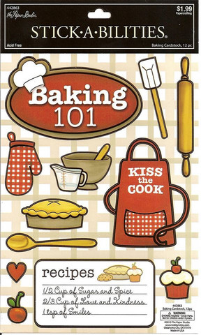 Stickabilities Cardstock Stickers: Baking