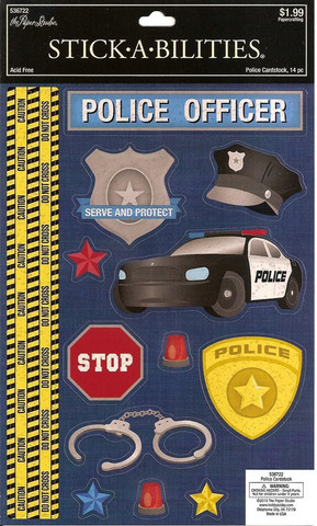 Stickabilities Cardstock Stickers: Police