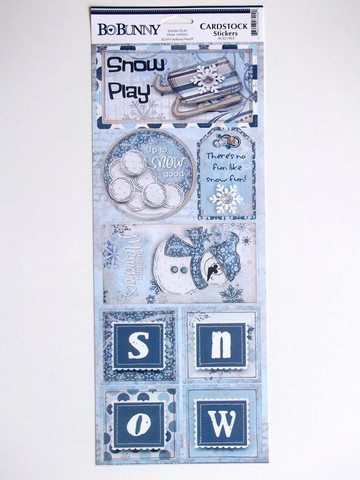 Snow Play Cardstock Stickers