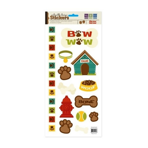Embossible Designs Cardstock Stickers: Bow Wow