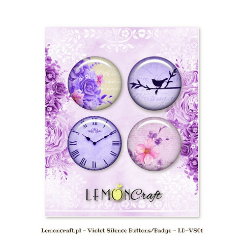 Violet Silence Flair Buttons -  koristeet
